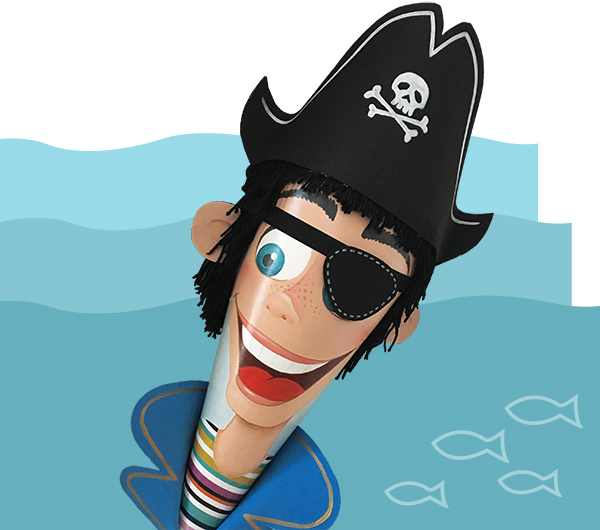 handgefertigte Piraten Zuckertüte